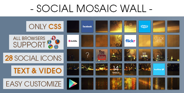 Social Mosaic Wall - CodeCanyon Item for Sale