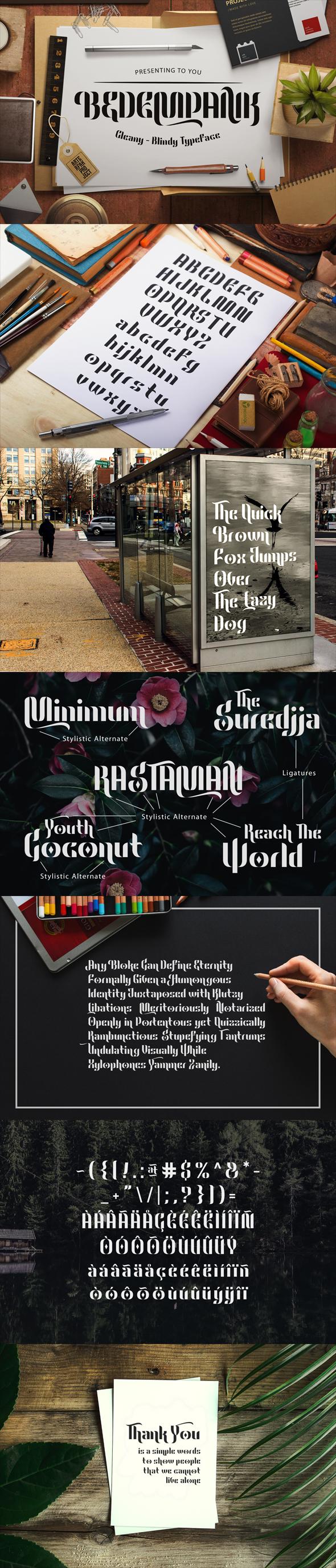 Bedempank Typeface - Miscellaneous Sans-Serif
