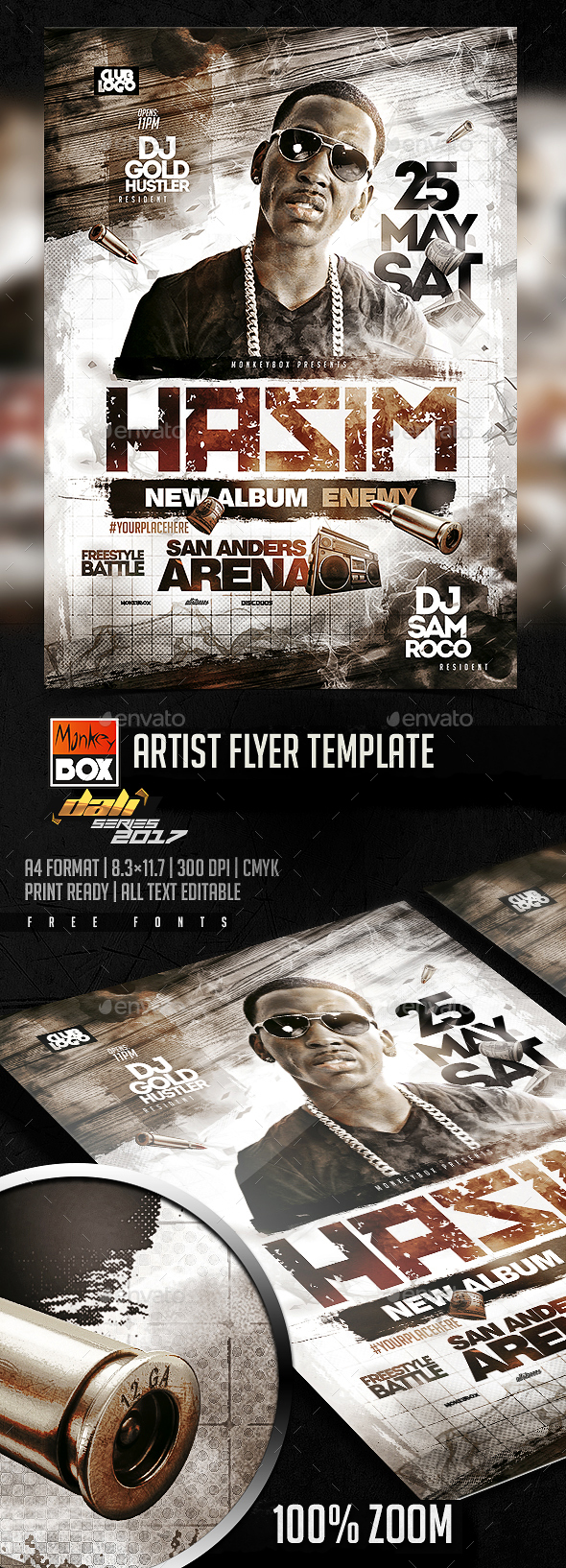 Artist Flyer Template - Flyers Print Templates