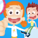 Kids and Bubbles Cartoon Intro - VideoHive Item for Sale
