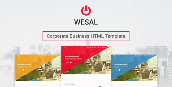 Wesal – Corporate Business Template