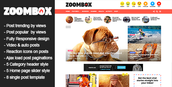 Zoombox – Viral Magazine WordPress Theme