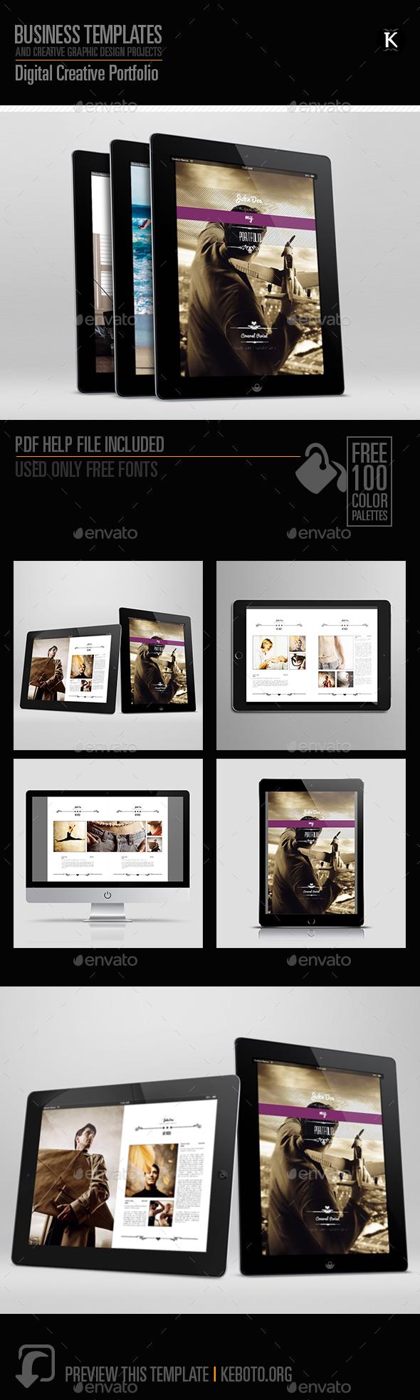 Digital Creative Portfolio Template - ePublishing