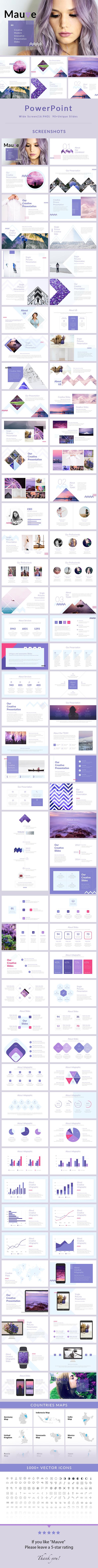 Mauve - PowerPoint Presentation Template - Creative PowerPoint Templates
