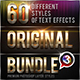 60 Original Photoshop Text Effects Bundle 3 - GraphicRiver Item for Sale