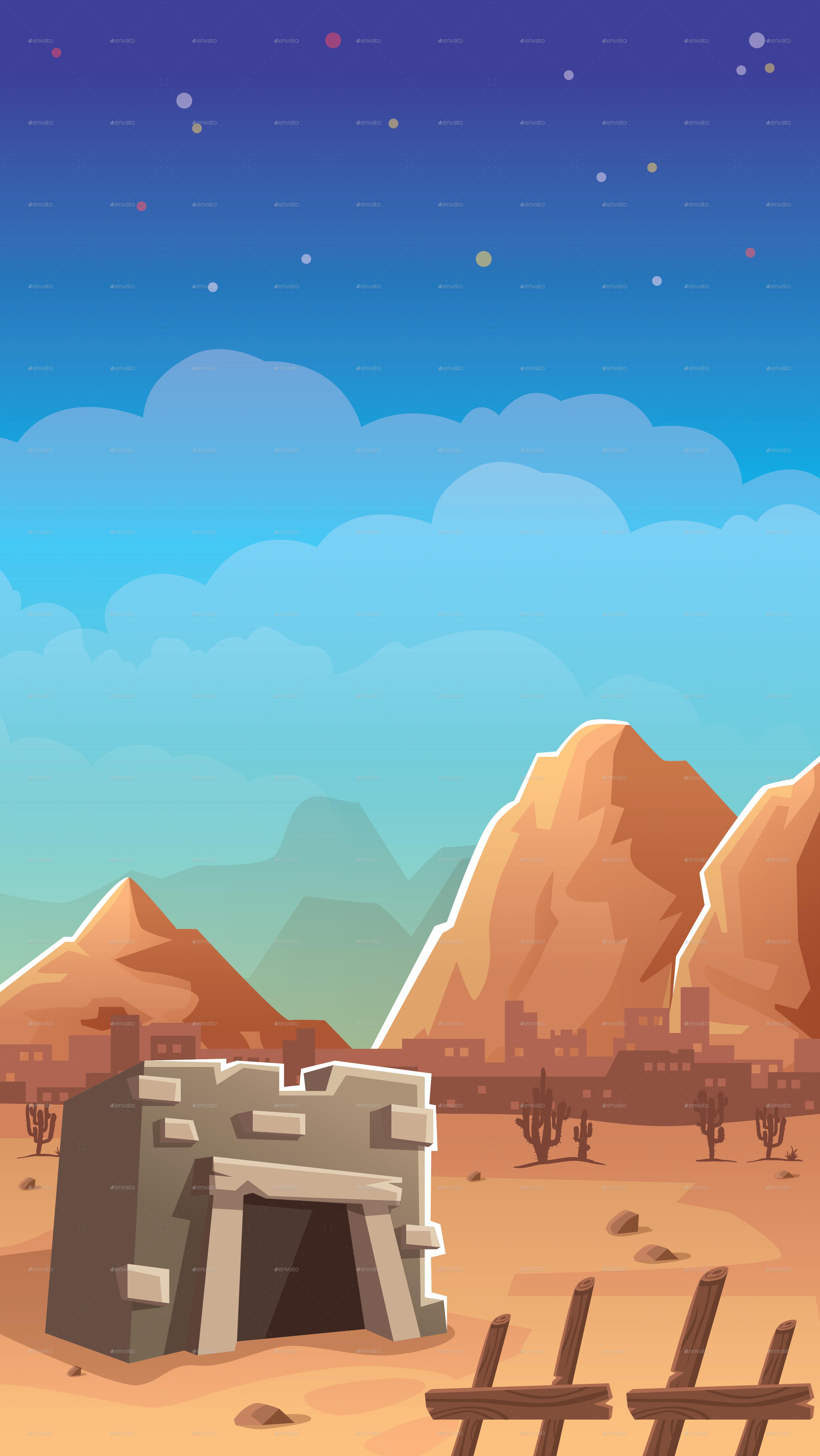 4 vertical game background by keenarstudio