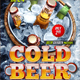 Cold Beer Flyer Template - GraphicRiver Item for Sale