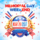 Memorial or Independence Day Party Poster vol.3 - GraphicRiver Item for Sale