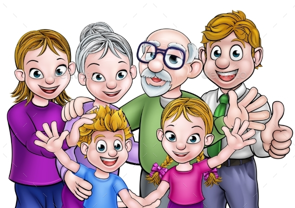 Cartoon Family - People Characters