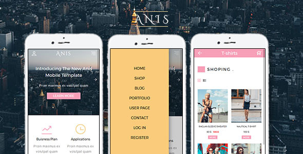 Anis - Multipurpose Mobile Template