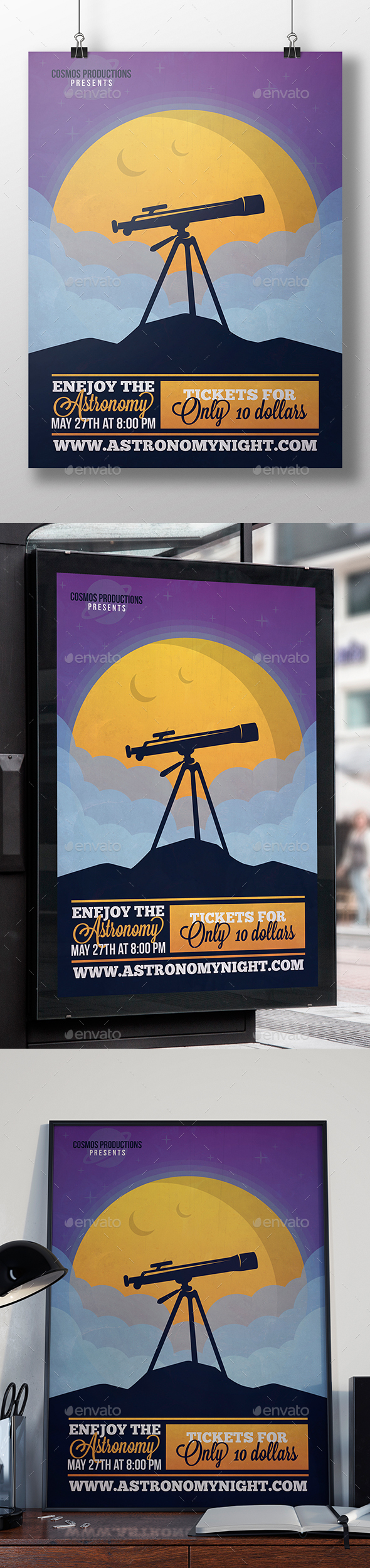 Astronomy Night Flyer Template - Miscellaneous Events