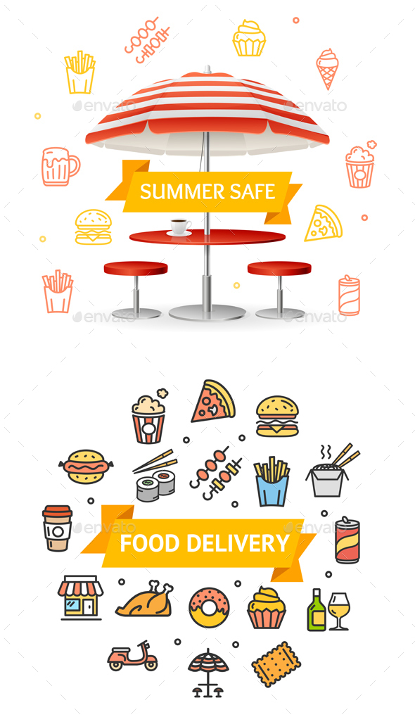 Fast Food or Street Food Designs - Food Objects