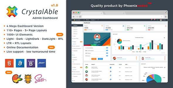 Crystal Able – Bootstrap 4 Admin Template
