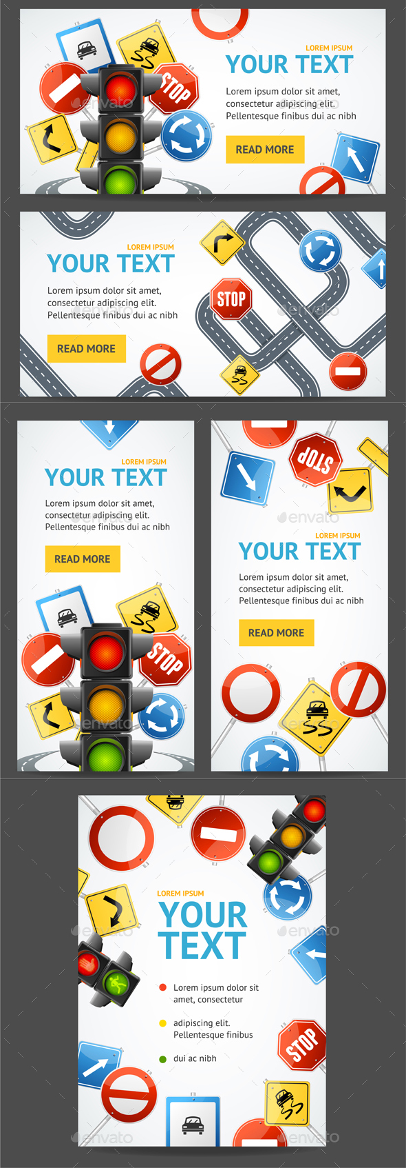 Road Sign Flyer Banner Posters Card - Miscellaneous Conceptual