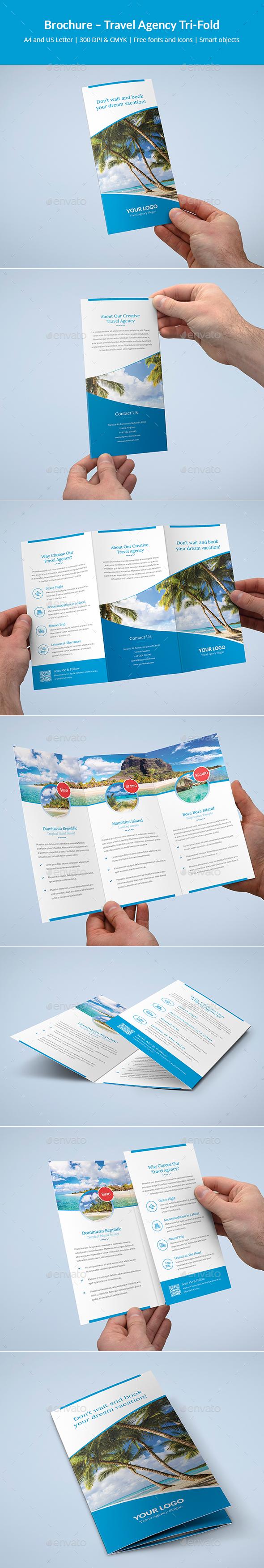 Brochure – Travel Agency Tri-Fold - Informational Brochures