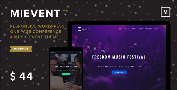 MiEvent - Responsive Event & Music WordPress Theme - WordPress
