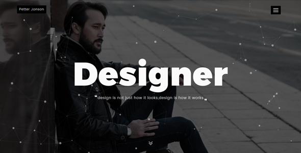 Designer - Personal Portfolio Template - Personal Site Templates