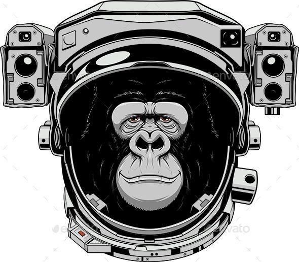 Monkey Astronaut - Animals Characters