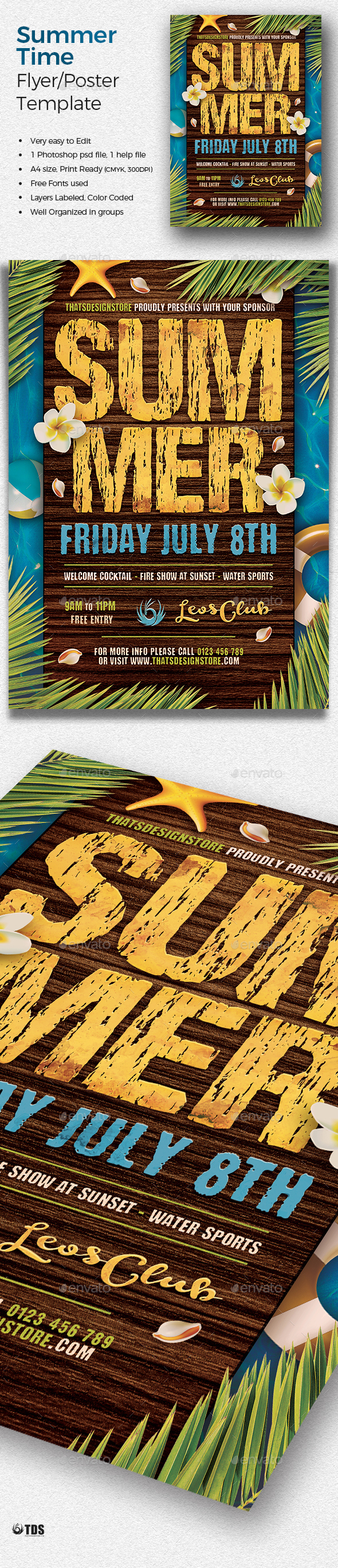 Summertime Flyer Template V3 - Clubs & Parties Events
