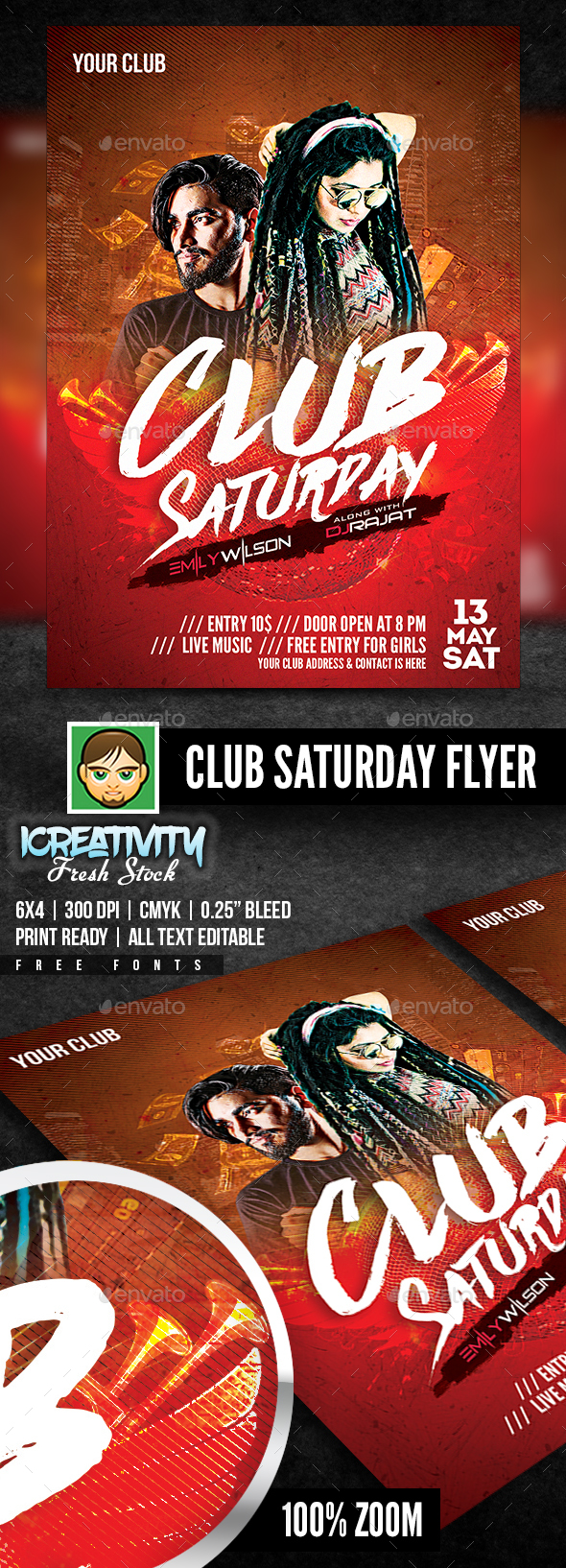 Club Saturday Flyer - Flyers Print Templates