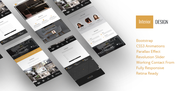 Interior Design - Bootstrap One-Page Template
