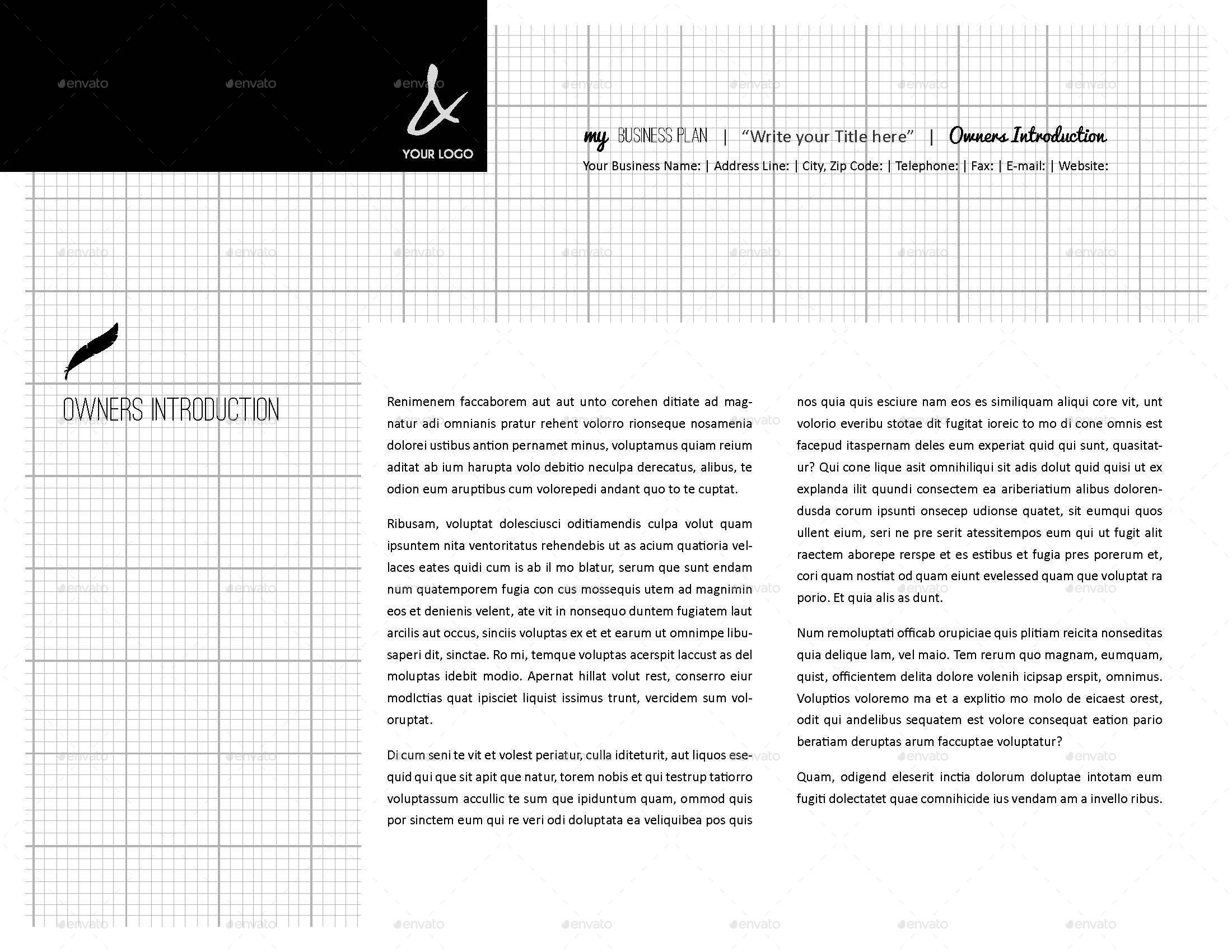 My Business Plan Digital Template By Keboto GraphicRiver - Digital business plan template