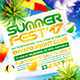 Summer Escape Party Flyer vol.8 - GraphicRiver Item for Sale