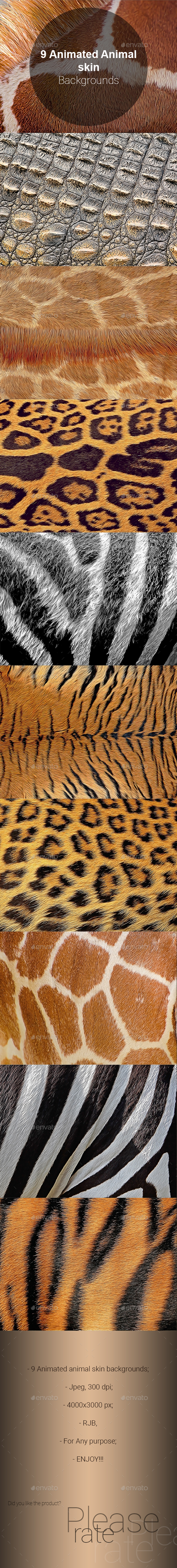 9 Animated Animal skin Backgrounds - Miscellaneous Backgrounds