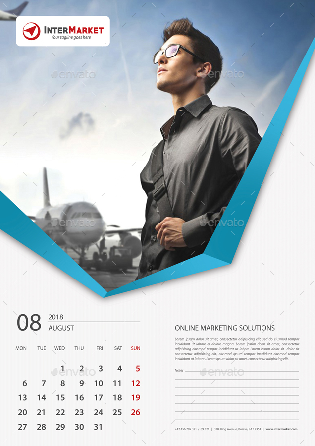 Corporate Calendar 2018 : Corporate wall calendar v by rapidgraf graphicriver