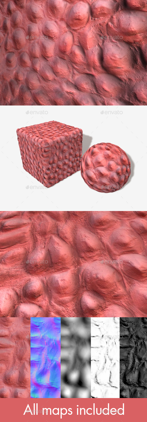 Strange Lumpy Pink Wall Seamless Texture - 3DOcean Item for Sale