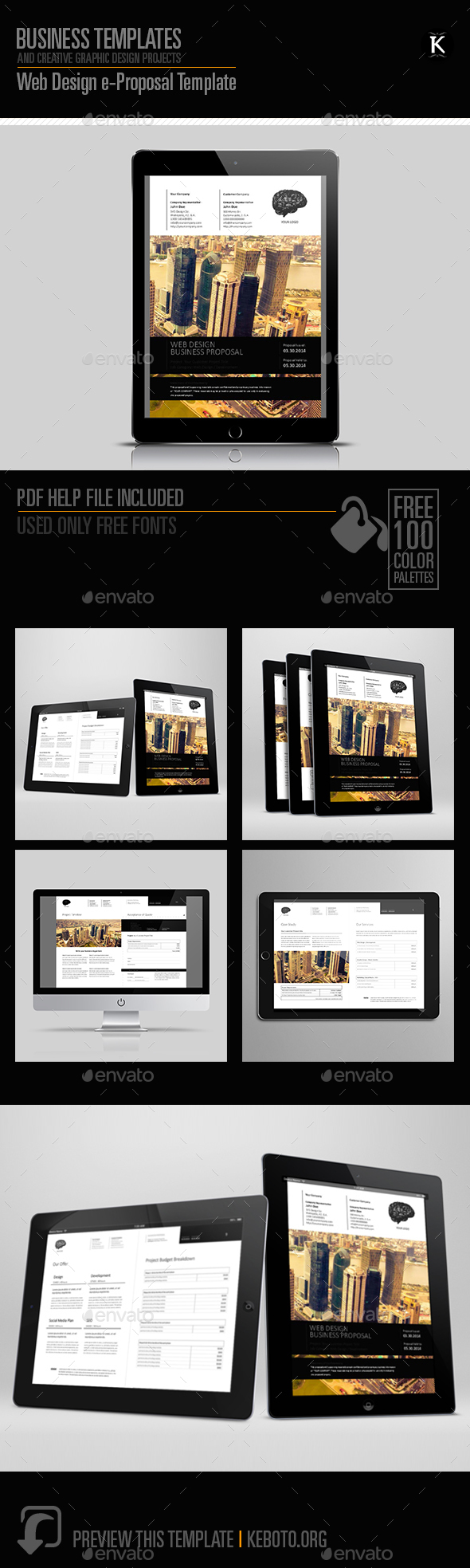 web design e proposal template by keboto graphicriver. Black Bedroom Furniture Sets. Home Design Ideas