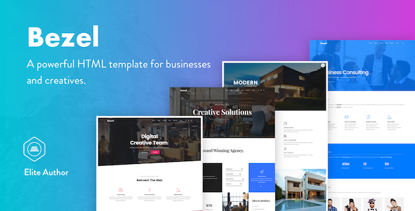 Bezel - Creative Multi-Purpose HTML Template - Creative Site Templates