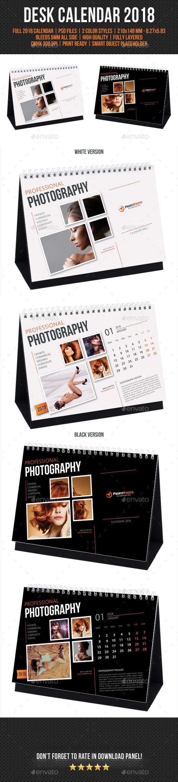 Creative Desk Calendar 2018 - Calendars Stationery