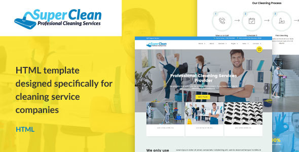 Super Clean – Cleaning Services HTML Template