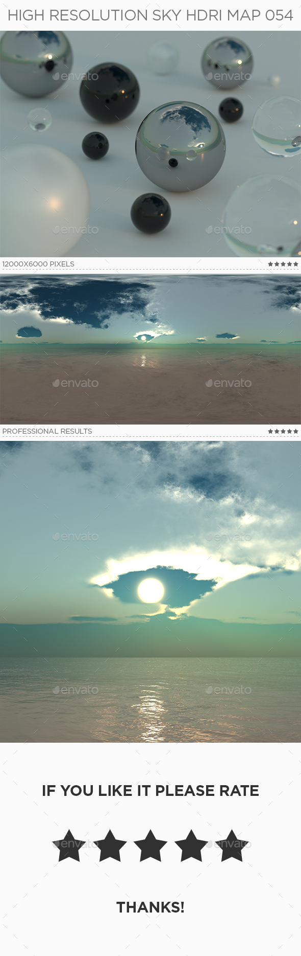 High Resolution Sky HDRi Map 054 - 3DOcean Item for Sale