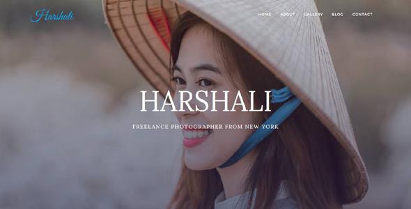 Harshali – FullScreen Photography Template