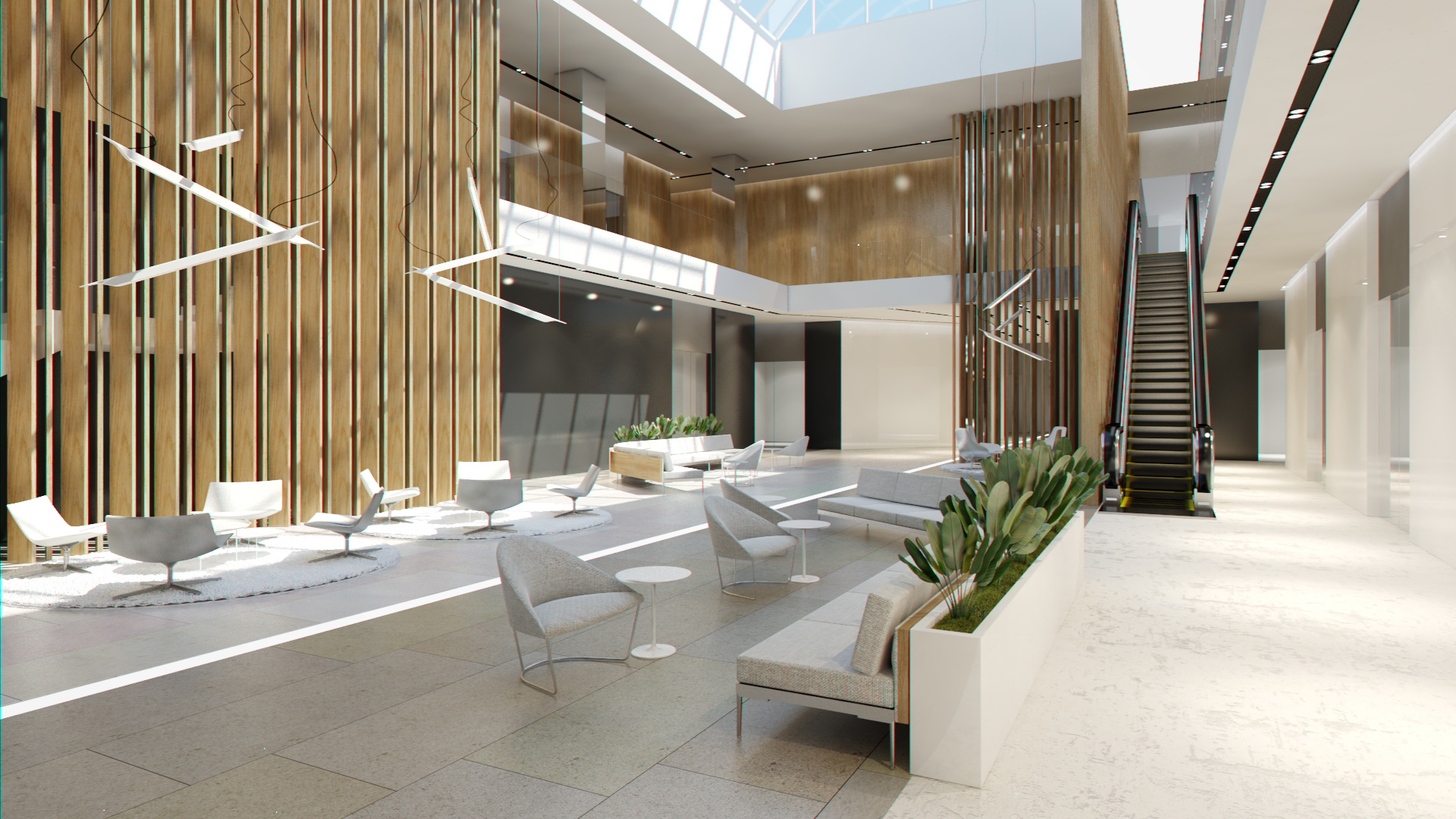 Office Foyer Design : Lobby hall foyer office commercial business scene interior