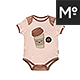 Baby Growsuit / Onesie Mock-up - GraphicRiver Item for Sale