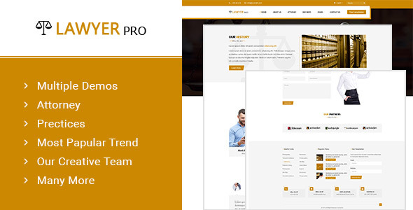Lawyer Pro – Template for Lawyers Attorneys and Law Firm