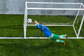 Soccer football goalkeeper making diving save - PhotoDune Item for Sale