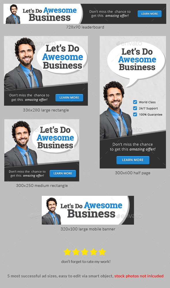 Corporate business web banner ad template by admiraladictus corporate business web banner ad template banners ads web elements pronofoot35fo Image collections
