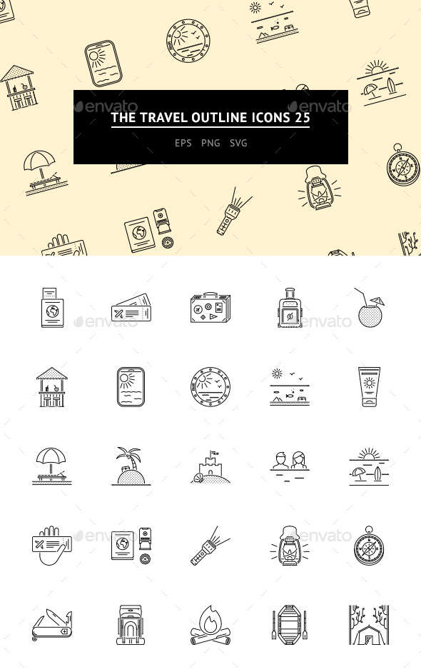 The Travel Outline Icons 25 - Web Icons