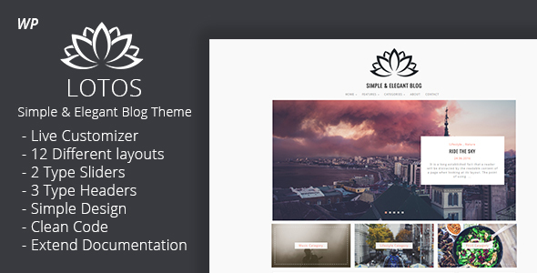 Lotos - Simple Blog Theme - Personal Blog / Magazine