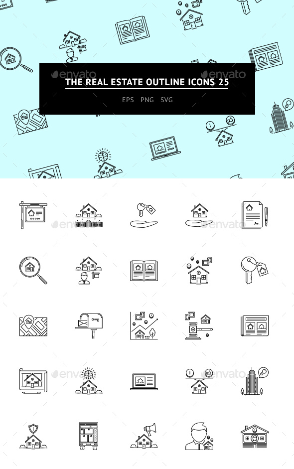 The Real Estate Outline Icons 25 - Web Icons