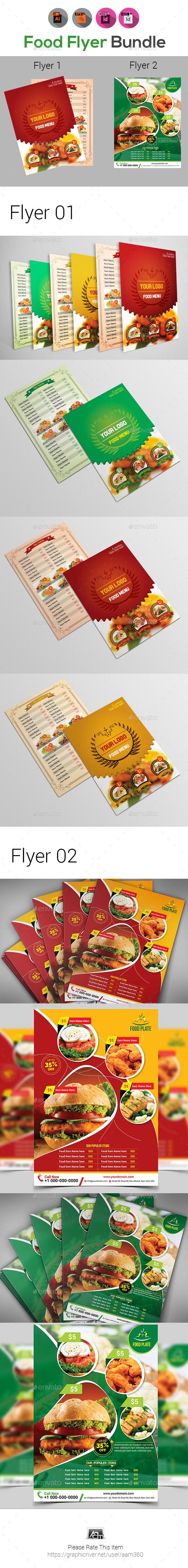 Menu or Food Flyer Templates - Restaurant Flyers