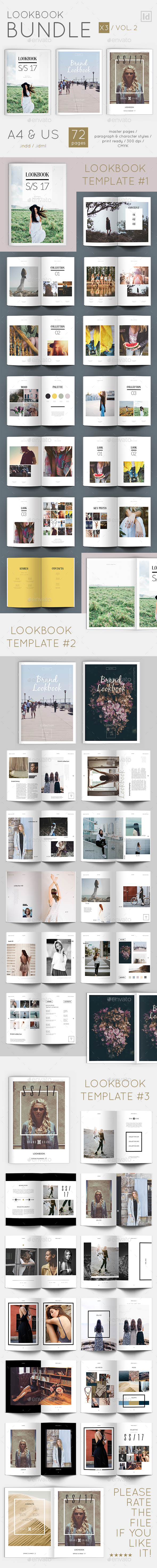 Lookbook Template Bundle 02 - Magazines Print Templates