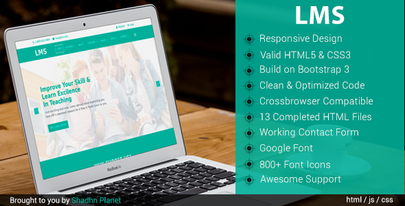 LMS Education – HTML5 Template