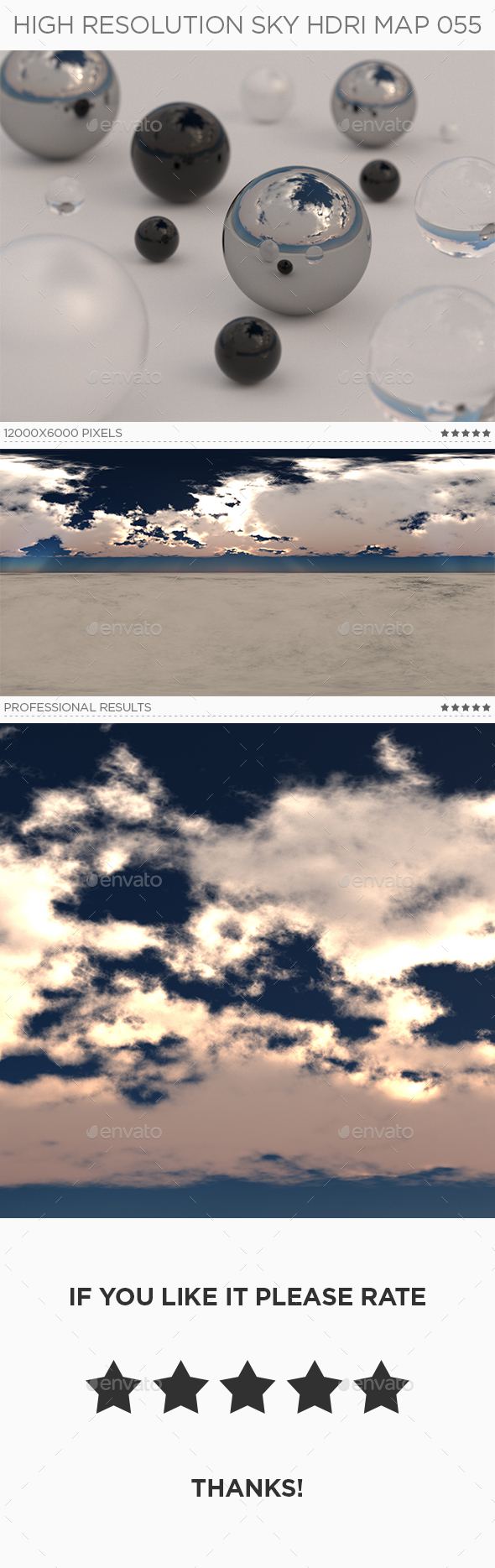 High Resolution Sky HDRi Map 055 - 3DOcean Item for Sale