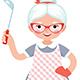 Senior Lady Cook - GraphicRiver Item for Sale