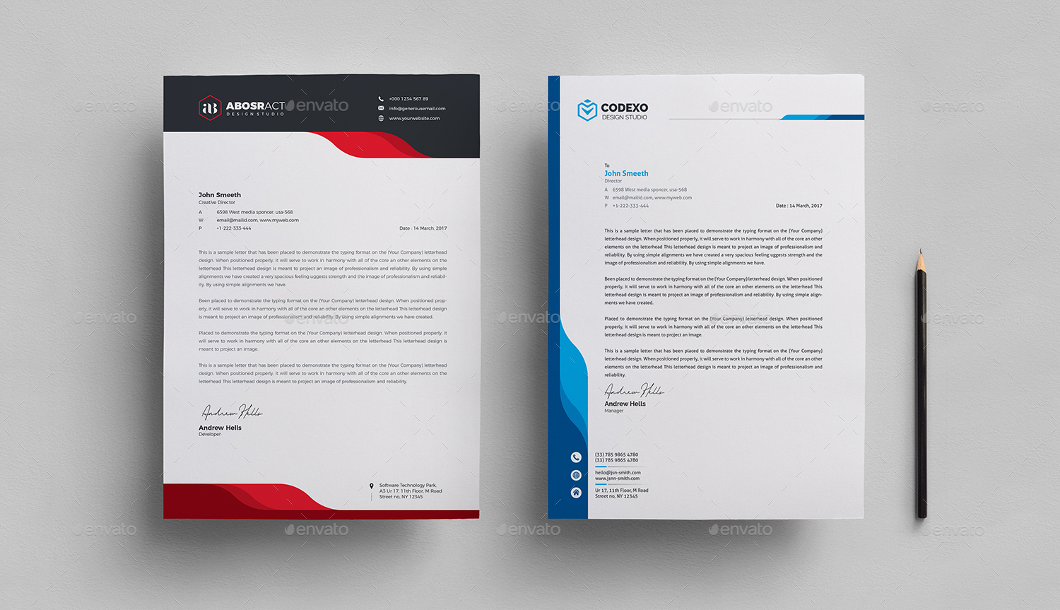 Letterhead By Generousart Graphicriver